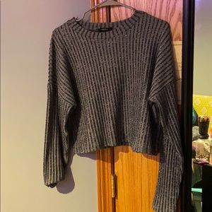 Long sleeve Crop top shirt
